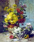 gathering summer flowers in a devonshire garden Canvas Prints - Still Life of Summer Flowers