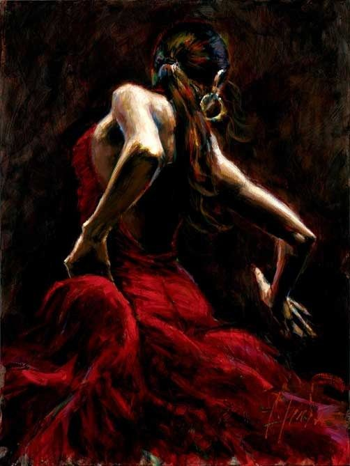Fabian Perez Dancer in Red