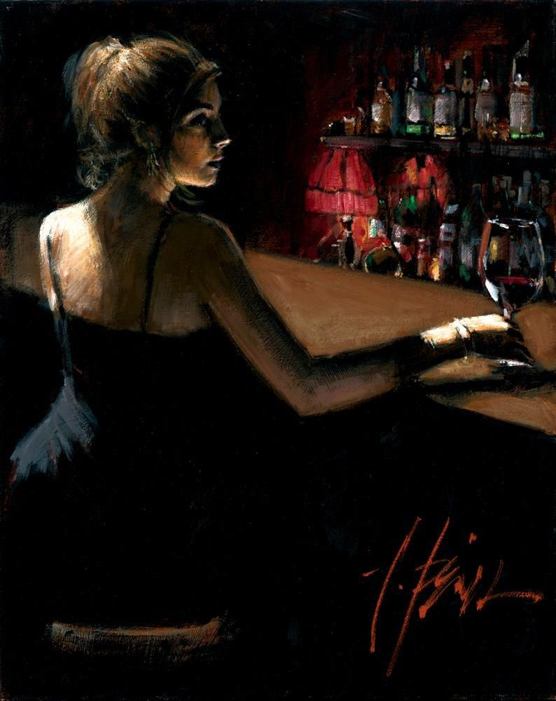 Fabian Perez Luciana at The Bar