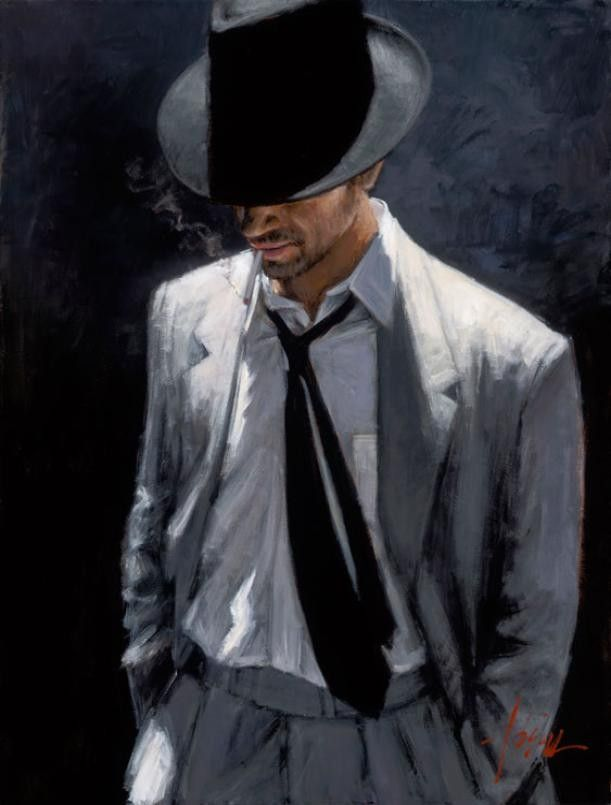 Fabian Perez MAN IN WHITE SUIT IV