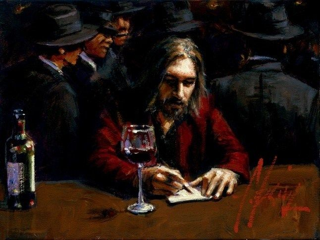 Fabian Perez Man at the Bar II