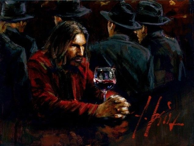 Fabian Perez Man at the Bar III