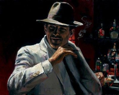 Fabian Perez Man at the Red Bar