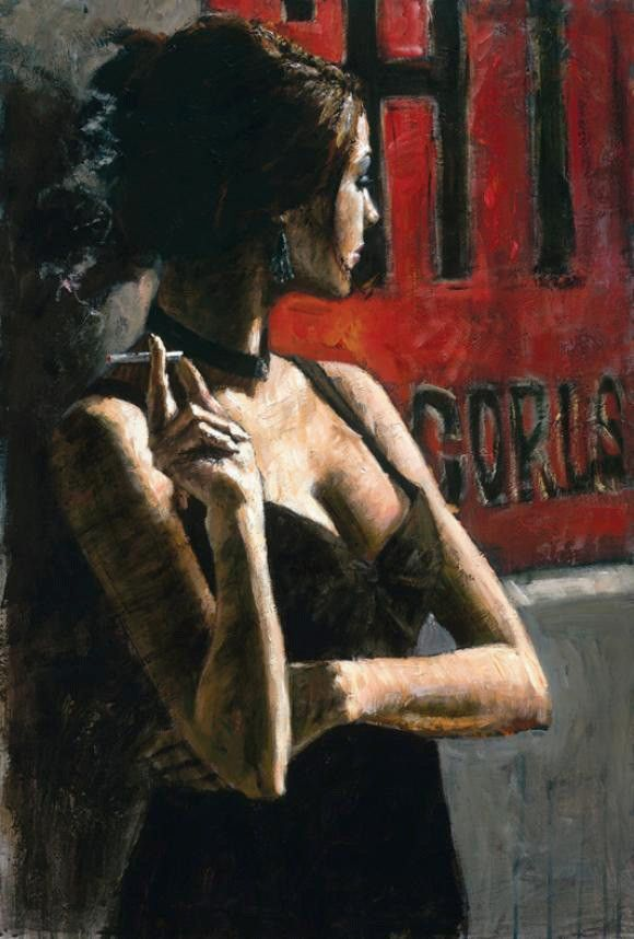 Fabian Perez THE RED SIGN