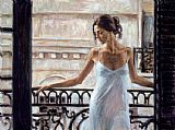 Fabian Perez BALCONY AT BUENOS AIRES painting