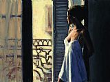 Fabian Perez Balcony at Buenos Aires X painting