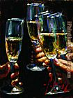 Fabian Perez Brindis con Champagne painting