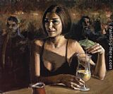 Fabian Perez Cocktail in Maui painting