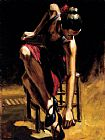 Fabian Perez Dancerin Red Skirt painting