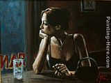 Fabian Perez EL FEDERAL CAFE IV painting