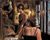 Fabian Perez EL FEDERAL CAFE painting