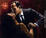 Fabian Perez Embrace of Tango painting
