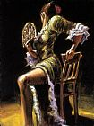 Fabian Perez FLAMENCO DANCER II with fan painting