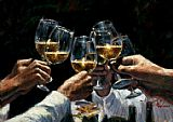 Fabian Perez For a Better Life II White Wine painting
