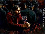 Fabian Perez Man at the Bar III painting