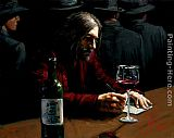 Fabian Perez Man at the Bar IX painting