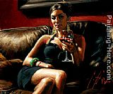 Fabian Perez Red on Red V painting