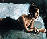 Fabian Perez Renee on Bed I painting