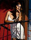 Fabian Perez Saba at the Balcony XIV at Red Wall painting
