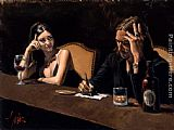 Fabian Perez Self Portrait With Monica painting