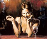 Fabian Perez Selling Pleasures painting