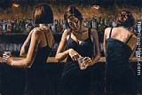 study for celebration Paintings - Study For 3 Girls in Bar II