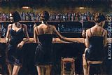 study for celebration Paintings - Study For 3 Girls in Bar