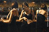 study for celebration Paintings - Study for Three Girls at the Bar