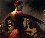 Fabian Perez TABLAO FLAMENCO II painting