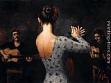 Fabian Perez Tablao Flamenco Dancer painting