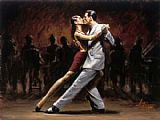 Fabian Perez Tango in Paris II painting