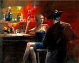 Wine paintings - Untitled iii by Fabian Perez