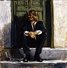 Fabian Perez Waiting for the romance to come painting