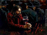 Fabian Perez man at bar III painting