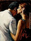 Fabian Perez study for the proposal IX painting