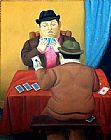 Fernando Botero Card Players painting