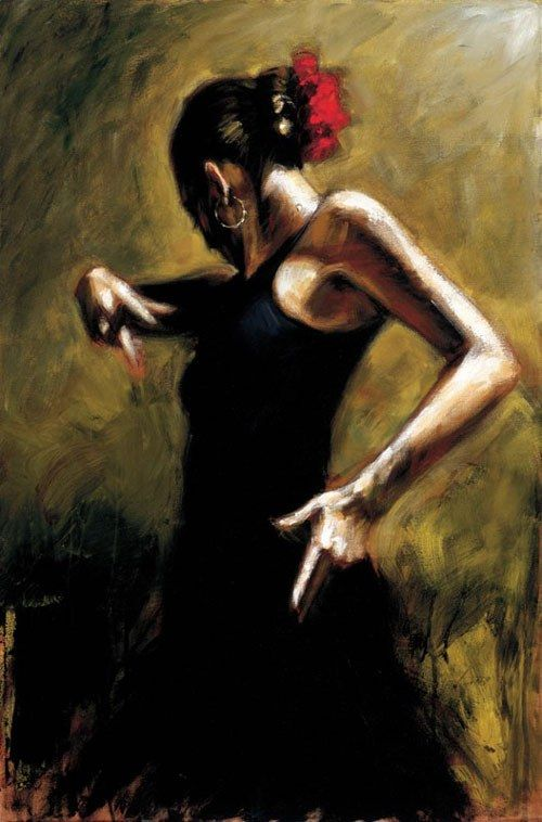 Flamenco Dancer Dancer In Black
