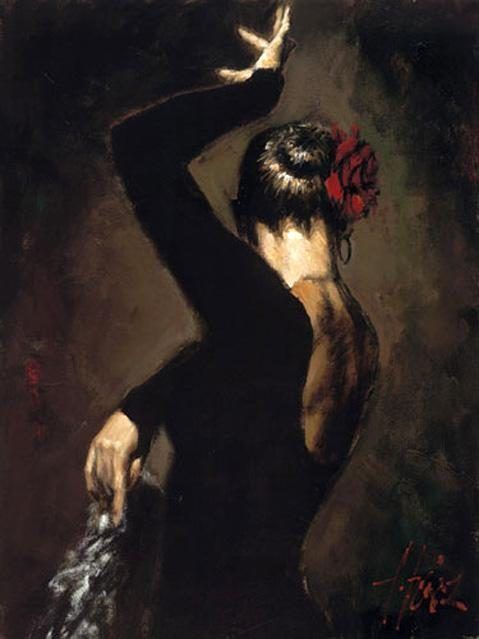 Flamenco Dancer tergopelo II
