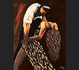 Flamenco Dancer Averil Elaziz Just Tango painting