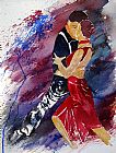 Flamenco Dancer Dancing Tango painting