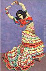 Flamenco Dancer Flamenco Dancer Art painting