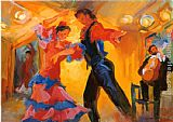 Flamenco Dancer La Pareja del Flamenco painting