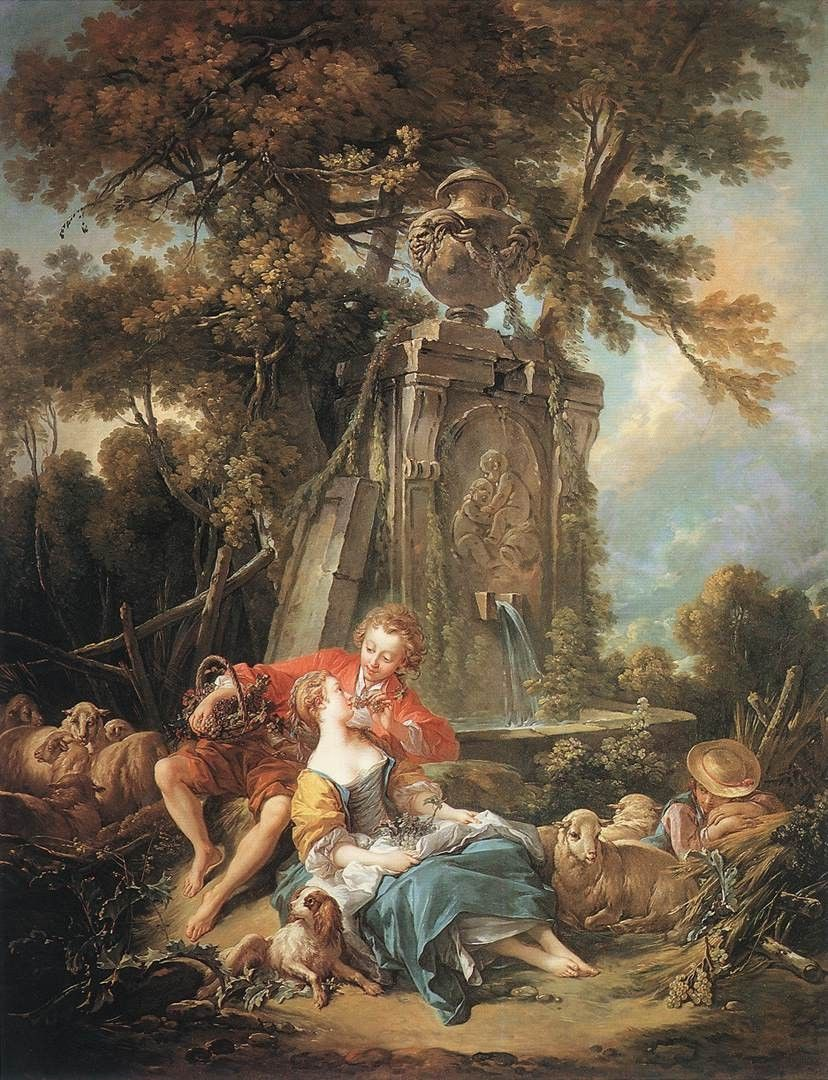 Francois Boucher An Autumn Pastoral