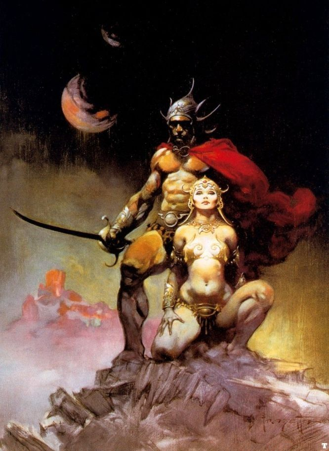 Frank Frazetta A Fighting Man of Mars