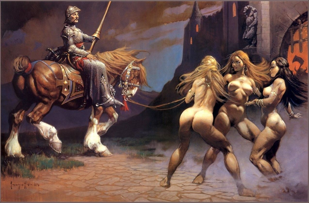 Frank Frazetta Castle of Sin