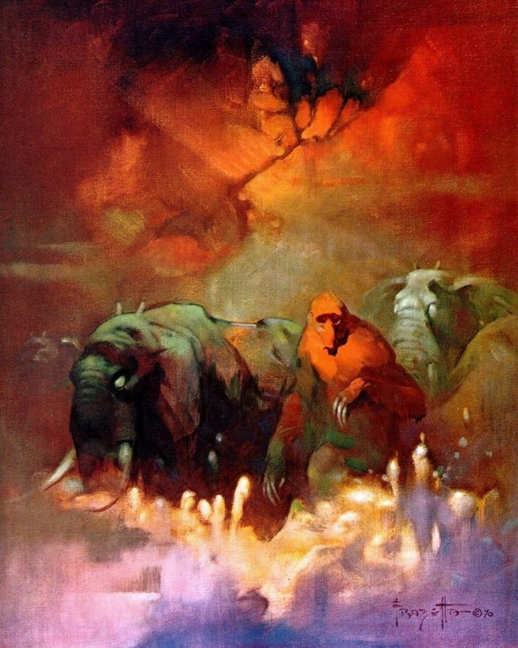 Frank Frazetta Downward to the Earth