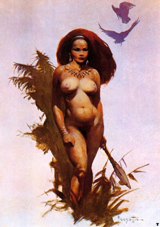 Frank Frazetta Primitive Beauty