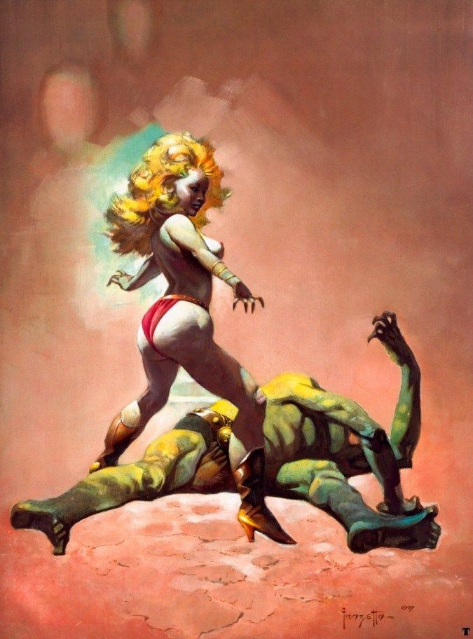 Frank Frazetta The Countess and the Greenman