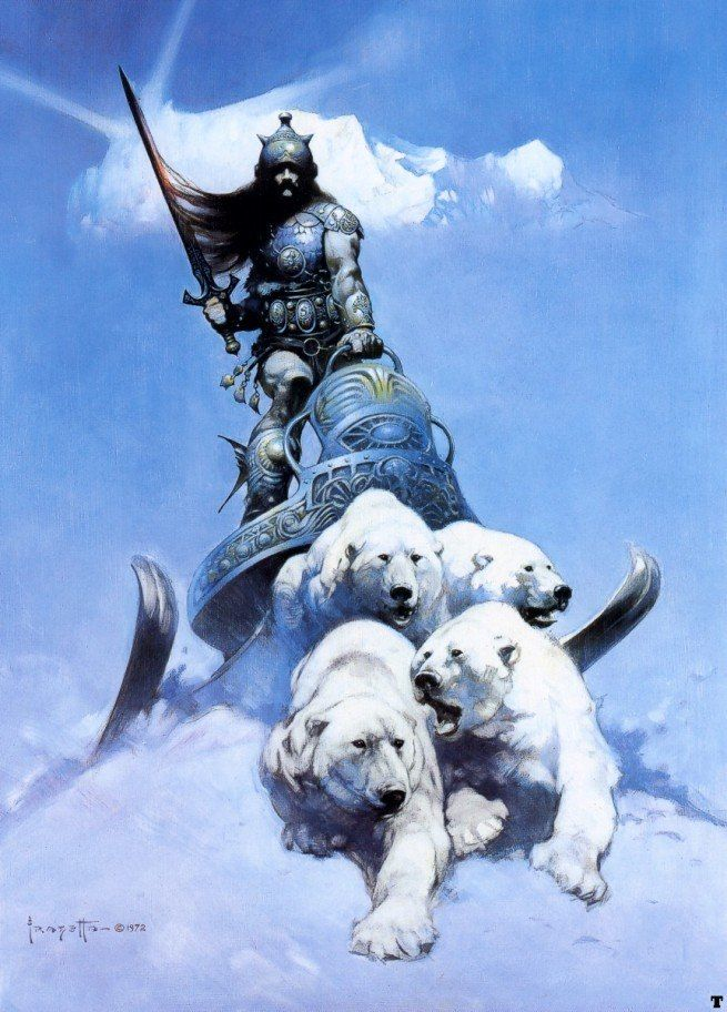 Frank Frazetta The Silver Warrior