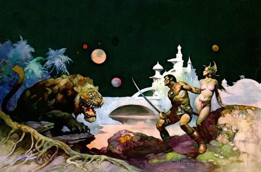 Frank Frazetta Thuvia - Maid of Mars